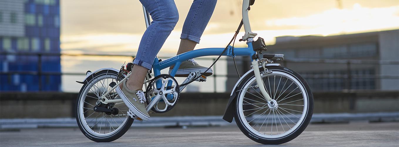 riding smallest folding bike